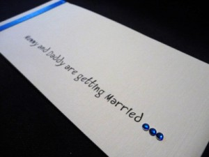 Mummy and Daddy are getting wedding invitation font
