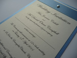 Script font style used on an invitation