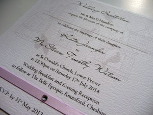 Invitation with mixed script and plain fonts