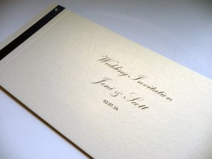 Invitation example with Kunstler Script Font
