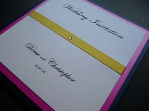 Invitation example with Edwardian Script Font