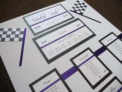 F1 theme Wedding Table Plan
