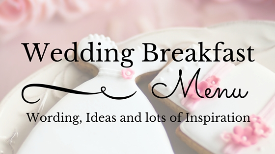 Wedding Breakfast Menu Ideas