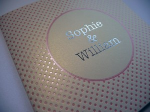 Foiling your Wedding Stationery