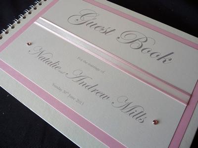 Pale pink Wedding Guest Book