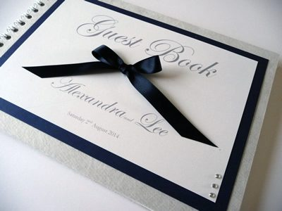 Wedding Guest Book with a Bow