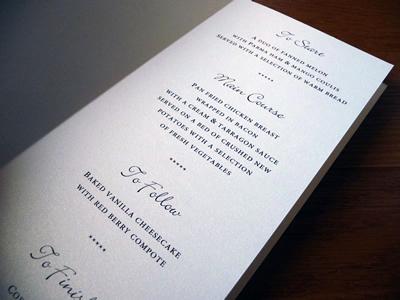 Ivory pearlised folded paper insert