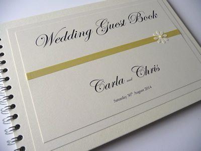 Lemon Daisy theme Wedding Guest Book