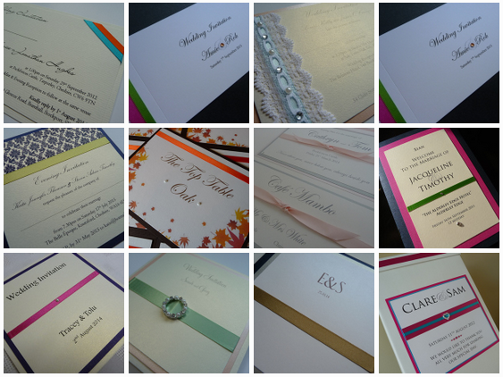 unusual colour schemes for wedding stationery