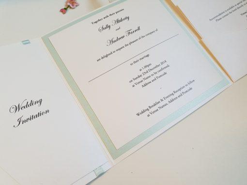 Pocketfold Wedding Invitation Inserts