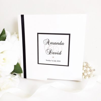 Pocketfold Wedding Invitations with a plaque
