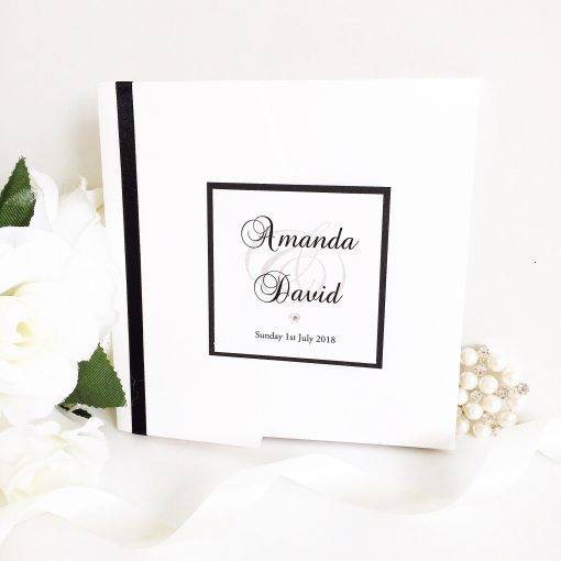 Pocketfold Wedding Invitations with a plaque