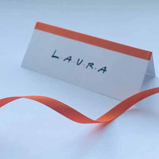 friends themed name place card