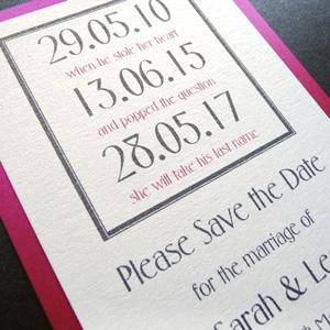 fushia date save the date