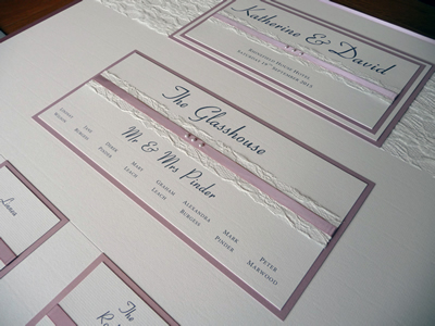 Dusky pink and lace themed wedding table plan A1 board