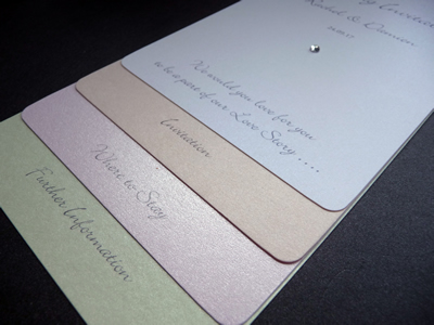 Loop Tied Wedding invitation with pastel shades