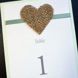 hessian heart table name