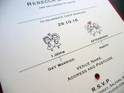 Same Sex Wedding Invitation featuring 2 brides