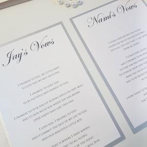 personalised wedding vows