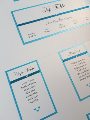 Teal A1 Table Plan Board
