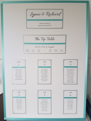 A1 table plan board