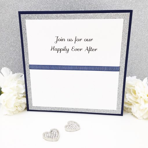 Join us for our Happily Ever After Glittery Pocketcard Wedding Invites