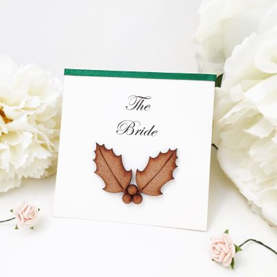 Holly themed Luxury Rustic Placecards