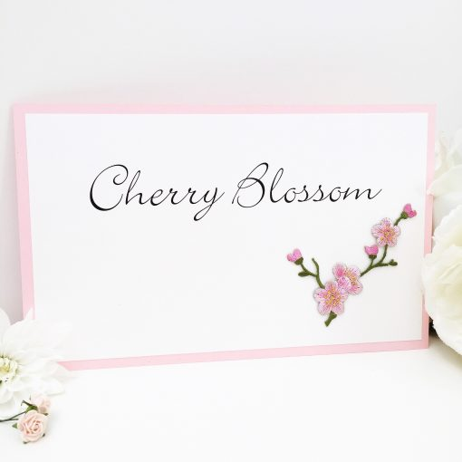 Cherry Blossom Themed Wedding Table Name Signs