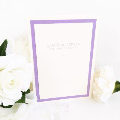 Lilac & Ivory Classic Simple Folded Wedding Invitation