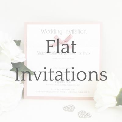 get a free sample of flat wedding invitations
