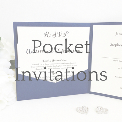get a free sample of a pocketfold wedding invitation