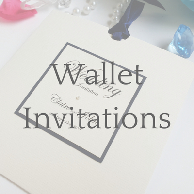 get a free sample of a Wallet style wedding invitation