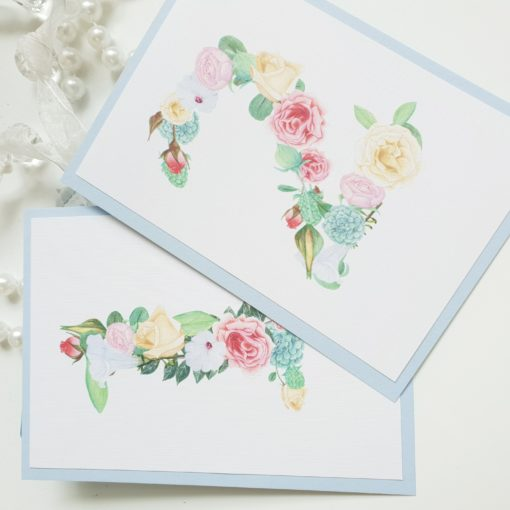Cute Floral Wedding Table Number Signs