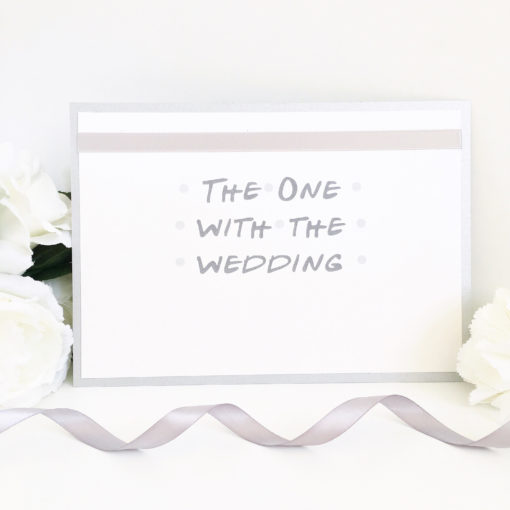 Silver & White Friends Theme Table Name Signs