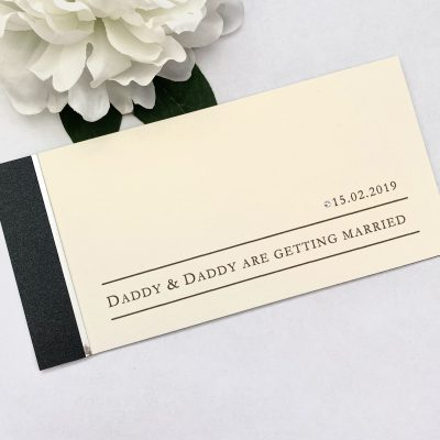 Daddy and Daddy are getting married invitation