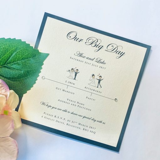 Our big Day invitation with black border
