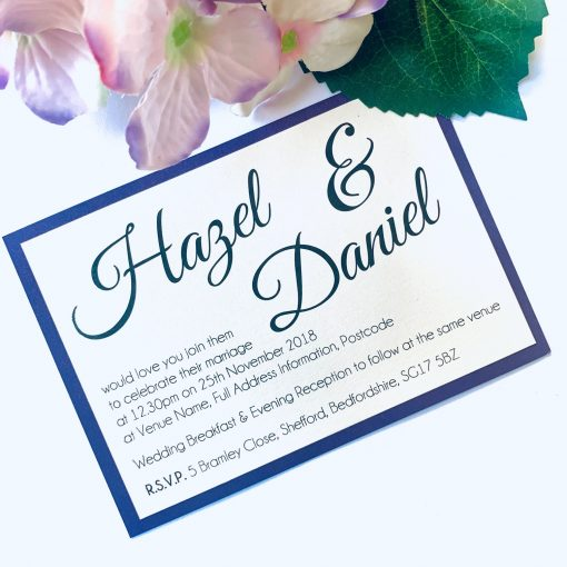 small simple flat invitation with purple border