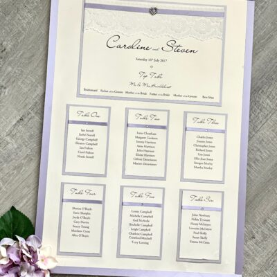 lilac and lace table plan