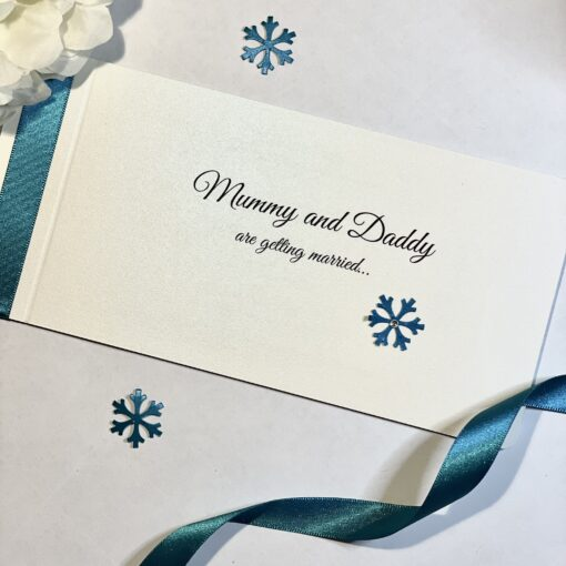 mummy and daddy are getting married chequebook invitation